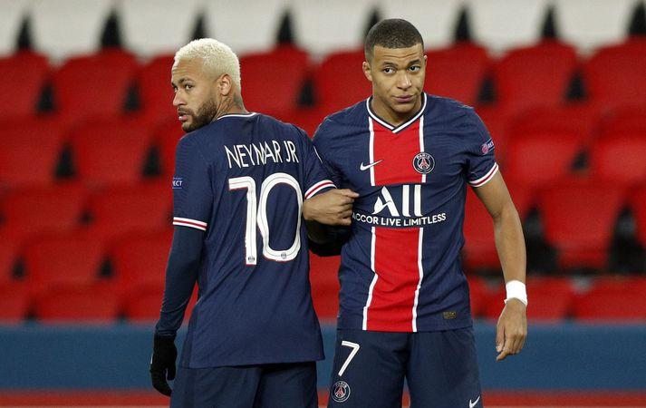 Neymar er mikill aðdáandi liðsfélaga síns Mbappé.