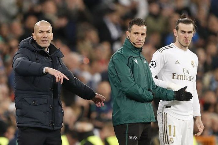 Bale og Zidane á hliðarlínunni í vetur en samband þeirra er ekki upp á tíu.