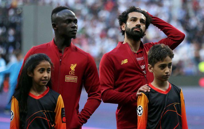 Mohamed Salah og Sadio Mane.