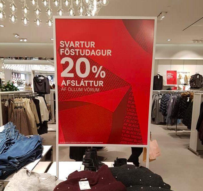 Neytandi sem ætlar að kaupa sér einar buxur fær ekki 20% afslátt.