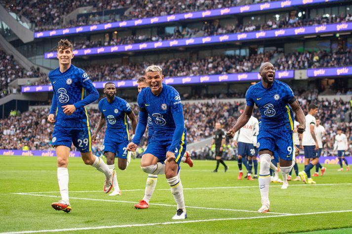 Thiago Silva kom Chelsea á bragðið í dag.