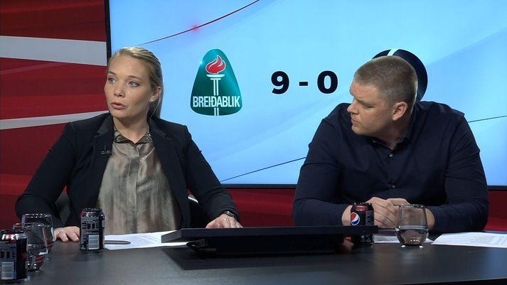 Margrét Lára Viðarsdóttir og Árni Freyr Guðnason fóru um víðan völl í Pepsi Max mörkunum í gærkvöld.