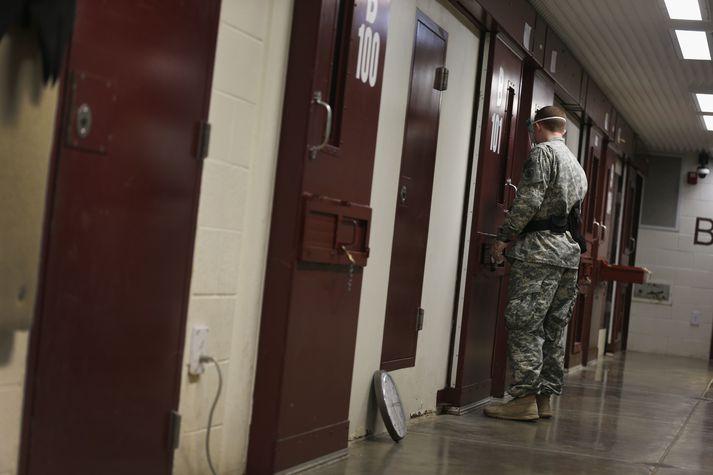 Úr Guantanamo-fangelsinu á Kúbu.