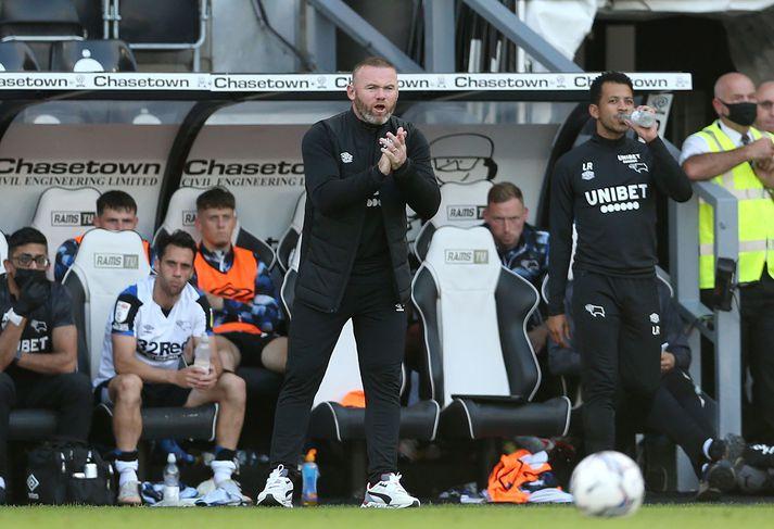 Wayne Rooney er í afar erfiðri stöðu hjá Derby County.