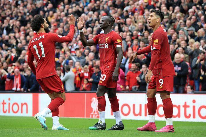 Mohamed Salah, Sadio Mané og Roberto Firmino hafa ekki verið á skotskónum að undanförnu.