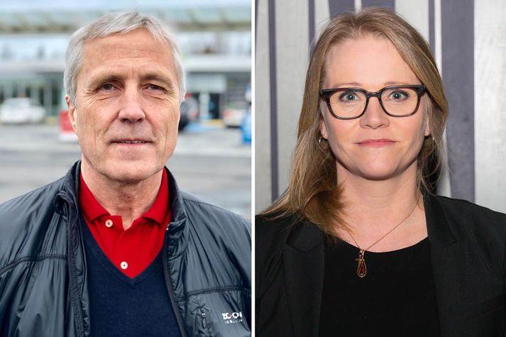 Runólfur Ólafsson, framkvæmdastjóri FÍB, og Katrín Júlíusdóttir framkvæmdastjóri Samtaka fjármálafyrirtækja, hafa tekist á varðandi iðgjöld ökutækjatrygginga.