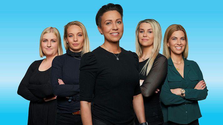 Helena Ólafsdóttir og sérfræðingar hennar taka stöðuna í Pepsi Max-deild kvenna í Pepsi Max-mörkum kvenna í kvöld.