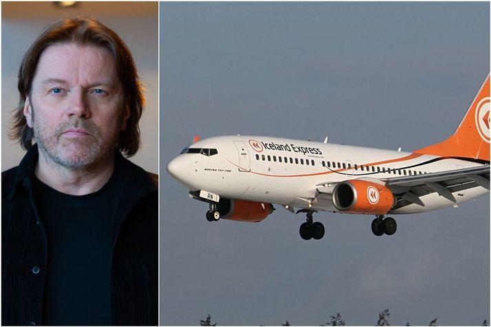 Jón Ásgeir Jóhannesson lánaði Iceland Express skömmu áður en hann sast í stjórn Icelandair. Jómfrúarflug Iceland Express var flogið árið 2003.