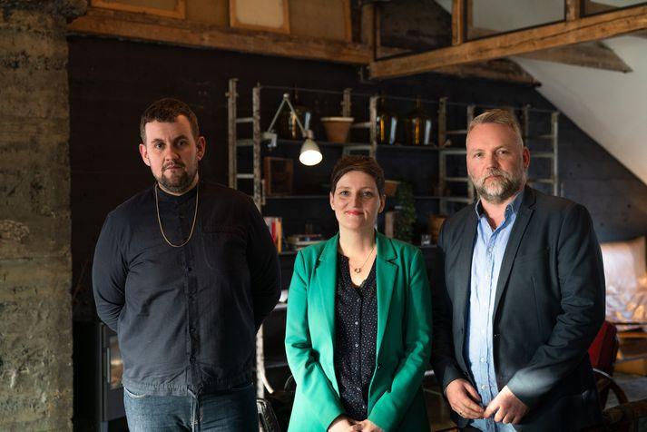 Dóri DNA, Kristín Eysteinsdóttir og Steinarr Logi Nesheim.