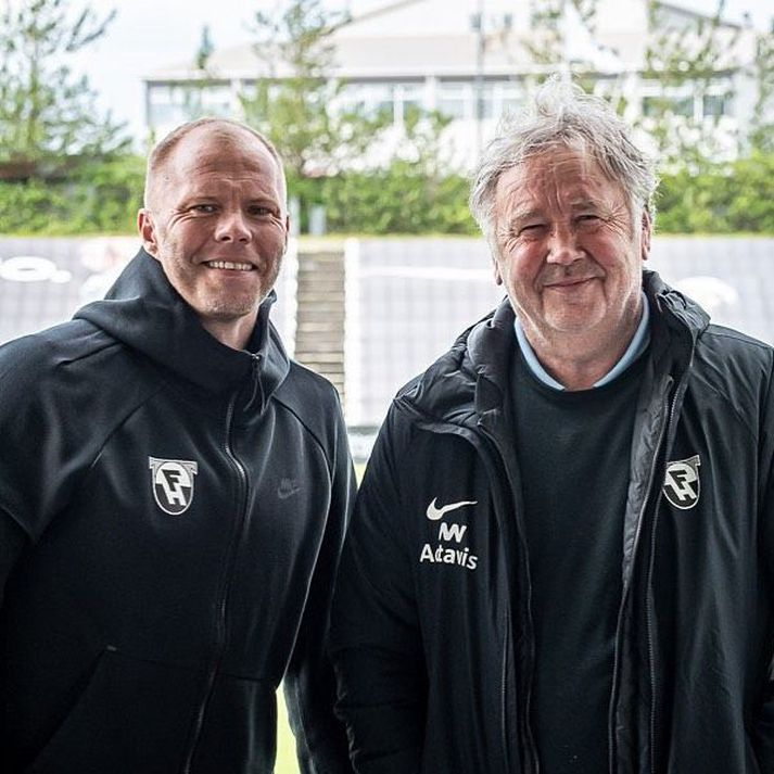 Eiður Smári Guðjohnsen og Logi Ólafsson eru nýir þjálfarar FH.