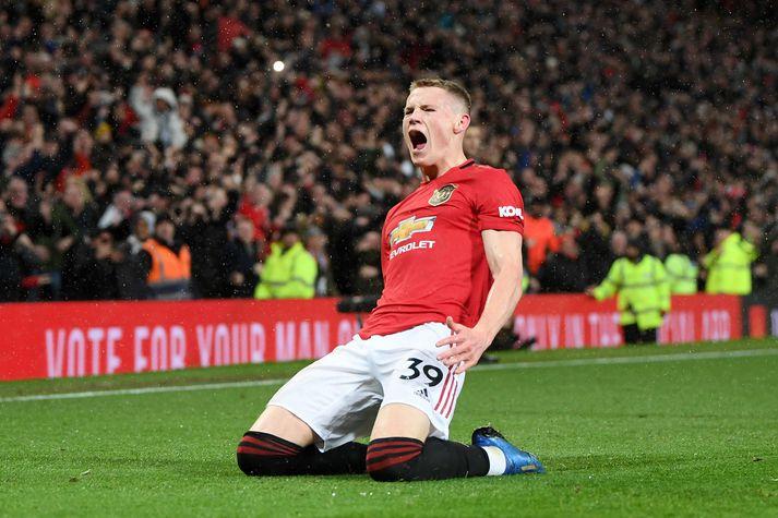 Scott McTominay og félagar í Manchester United spila ekki lengur í búningnum með Chevrolet framan á.
