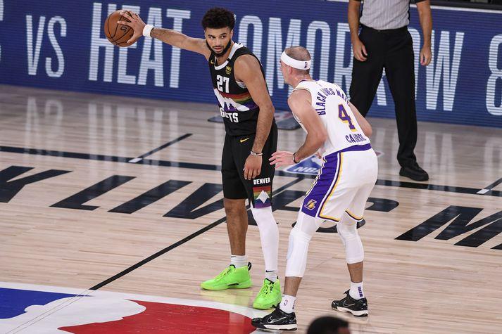 Jamal Murray átti frábæran leik gegn Los Angeles Lakers í nótt.