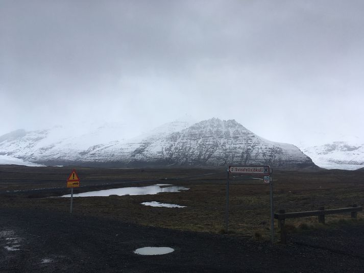Svínafellsjökull er skriðjökull sem gengur út frá Vatnajökli.