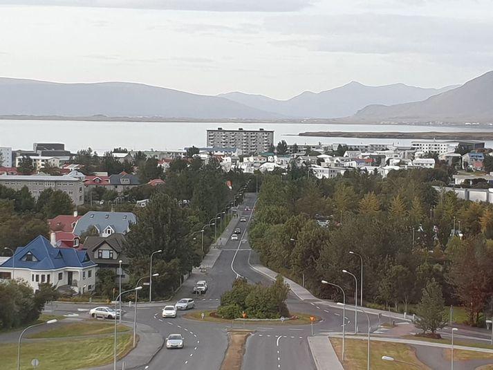 Frá Reykjaveginum í Laugarneshverfi.