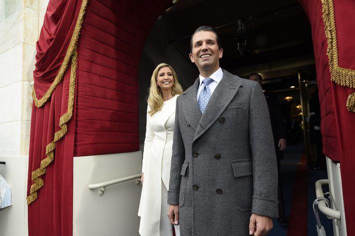Donald Trump yngri og systir hans Ivanka.