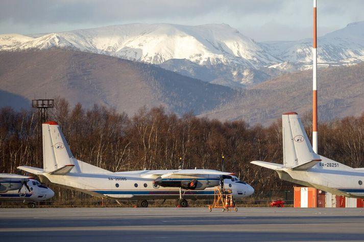 Antonov An-26 með sömu einkennisstafi og vélin sem hrapaði á Elizovo-flugvelli við Petropavlovsk á Kamtsjatka í nóvember.