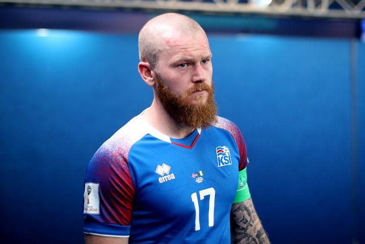 Aron Einar Gunnarsson, fyrirliði íslenska landsliðsins.
