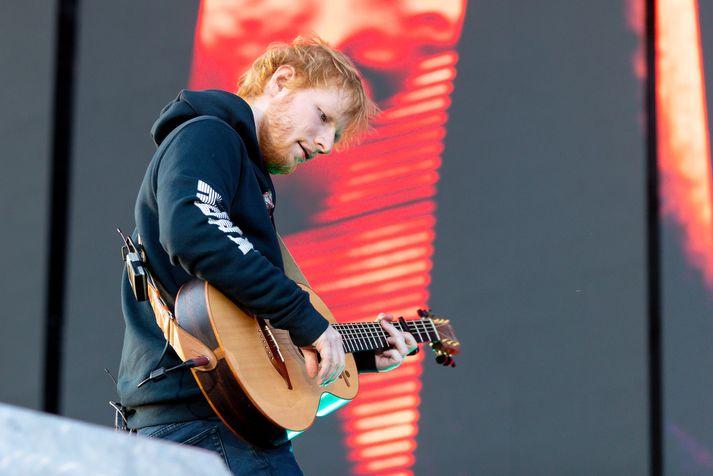 Ed Sheeran á tónleikum í Laugardal.