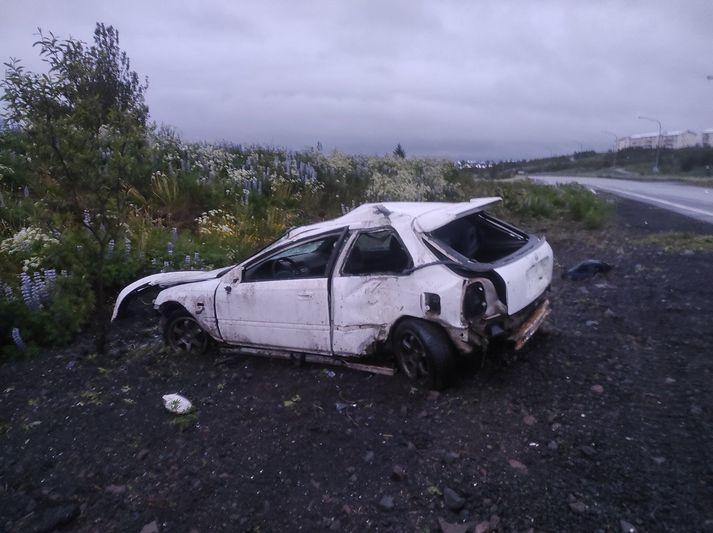 Zdjęcie z miejsca wypadku przyRauðavatn.