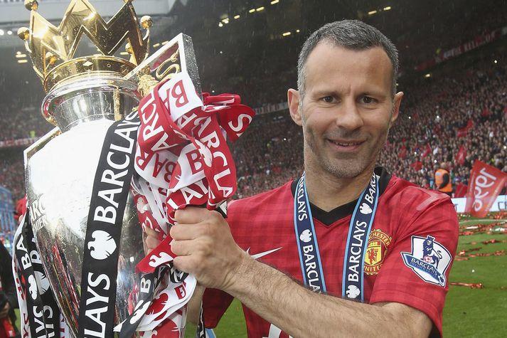 Ryan Giggs vann ensku deildina þrettán sinnum með Manchester United.