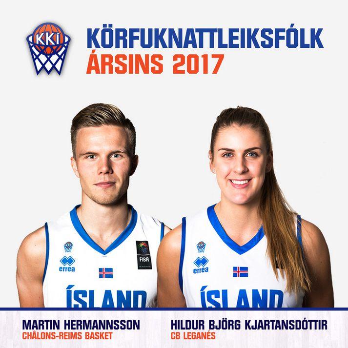 Hildur Björg Kjartansdóttir og Martin Hermannsson.