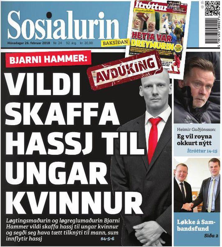 Forsíða Sósíalsins var safarík á sínum tíma. Þar mátti jafnframt sjá knattspyrnuþjálfarann Heimi Guðjónsson.
