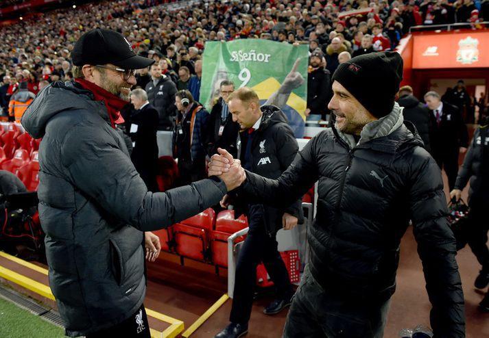 Pep Guardiola og Jürgen Klopp munu kljást á Viaplay næstu árin.