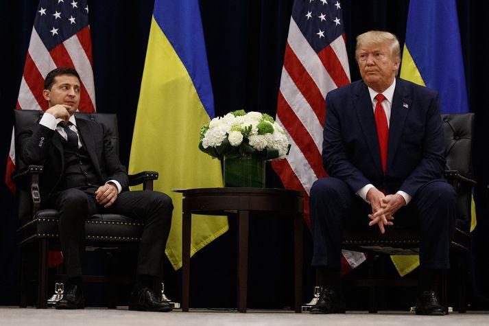Voldymir Zelensky og Donald Trump.