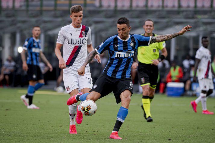 Andri Fannar í leiknum gegn Inter á dögunum.