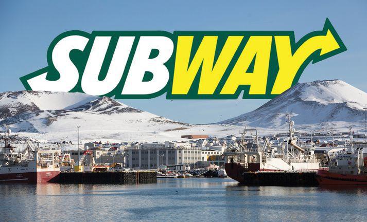 Konan starfaði á Subway í Vestmannaeyjum.