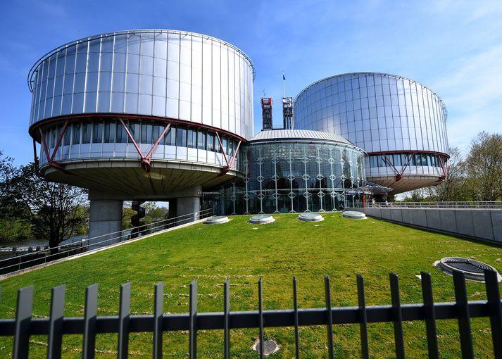 Mannréttindadómstóll Evrópuí Strasbourg í Frakklandi.