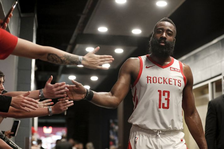 James Harden spilar fyrir Houston Rockets