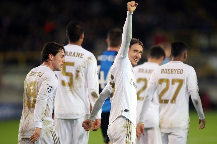 Real Madrid hefur leik í 16-liða úrslitum Meistaradeildar Evrópu í kvöld.