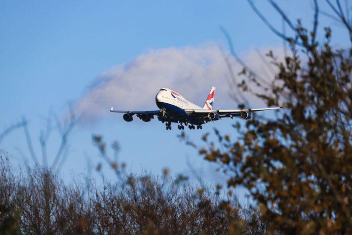 Vélin var af gerðinni Boeing 747-436.