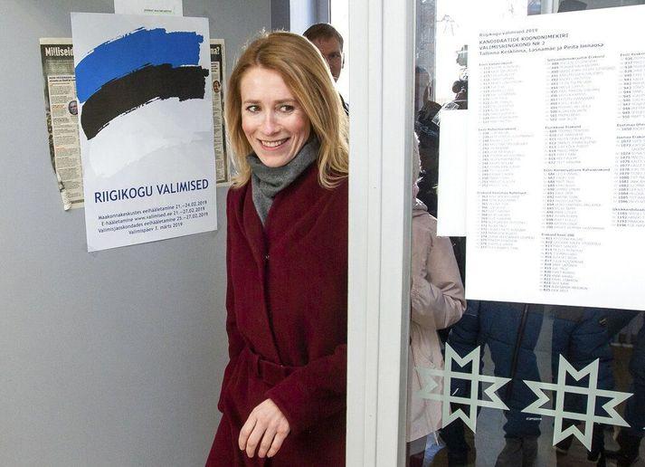 Hin 43 ára Kaja Kallas átti sæti á Evrópuþinginu á árunum 2014 til 2018.
