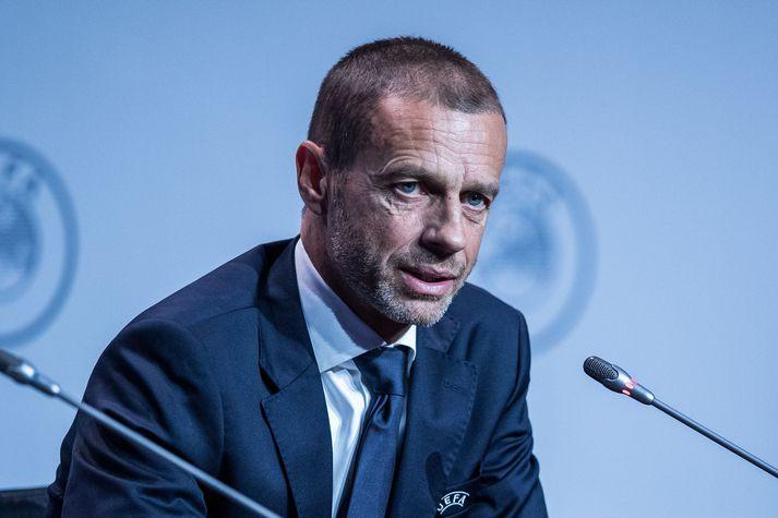 Aleksander Ceferin er forseti UEFA. Hans bíður erfitt verkefni að fá allt til að smella saman eftir faraldurinn.