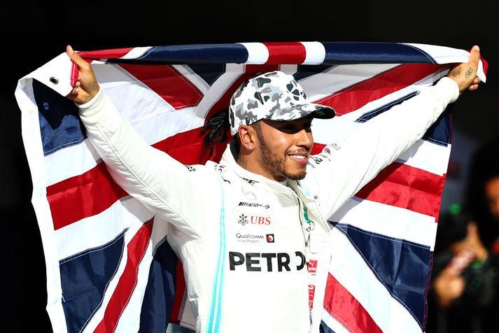 Lewis Hamilton fagnaði heimsmeistaratitli í Texas