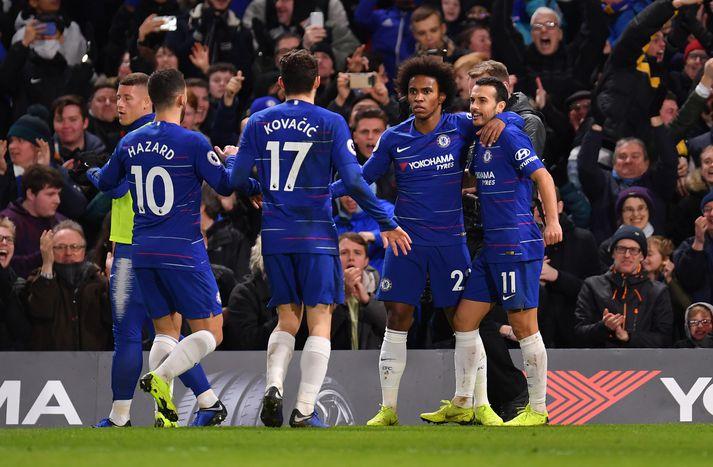 Willian var hetja Chelsea í kvöld.
