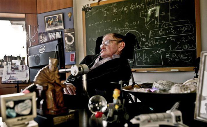 Á heimili hans nærri Cambridge-háskóla vann Stephen Hawking að mörgum að byltingarkenndustu rannsóknum sínum um eðli svarthola.