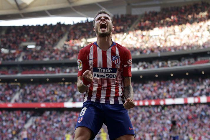 Saúl í leik með Atletico Madrid fyrr í vetur.