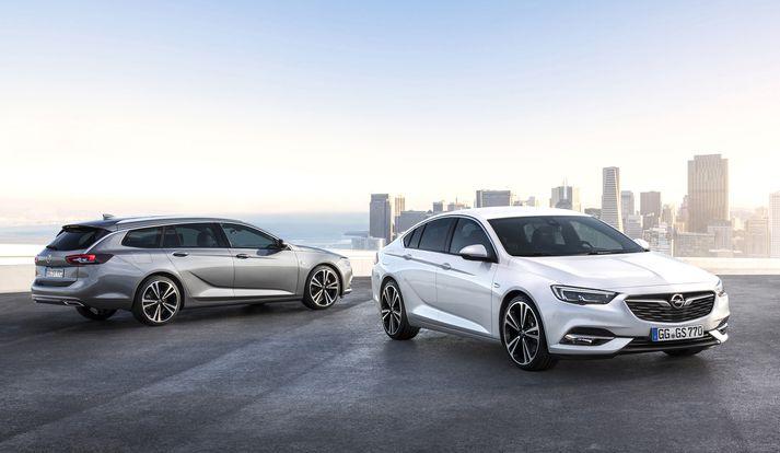 """Opel Insignia má bæði fá í langbaksgerð og sem venjulegur """"sedan""""-bíll."""