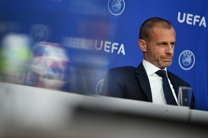 Aleksander Ceferin, forseti UEFA, ætlar ekki að gefa neitt eftir í þessu máli.