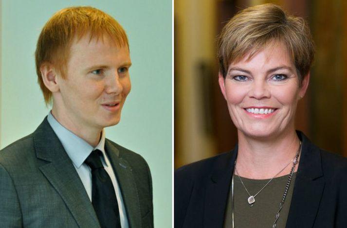 Kjartan Bjarni Björgvinsson og Berglind Svavarsdóttir ræddu aukastörf dómara á Sprengisandi í dag.