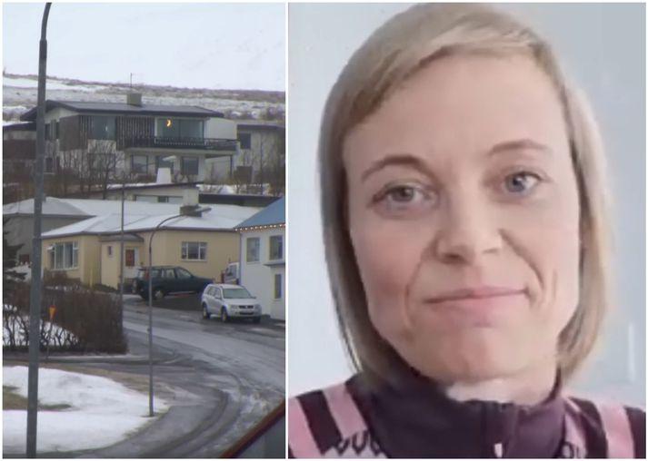 Þórey Edda Elísdóttir býr á Hvammstanga en hún og eiginmaður hennar urðu bæði fyrir því óláni að smitast af kórónuveirunni.