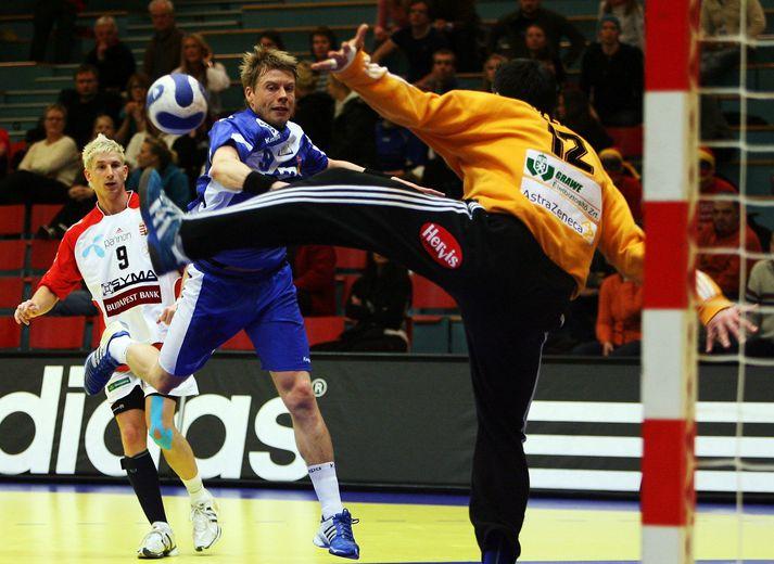Guðjón Valur Sigurðsson var markahæstur gegn Alsír á HM 2005 og 2015.