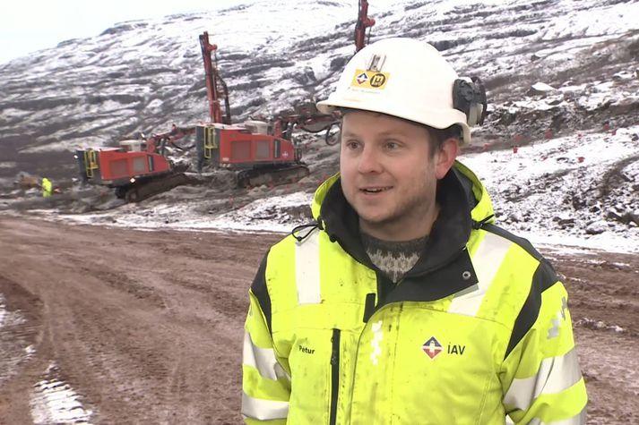 Pétur Hemmingsen, verkefnisstjóri ÍAV á Dynjandisheiði.