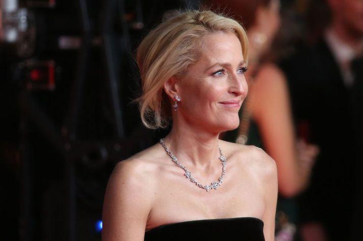 Gillian Anderson segist aldrei ætla að klæðast brjóstahaldara aftur.