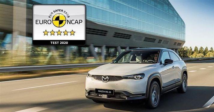 Mazda MX-30 rafbíllinn hlaut 5 stjörnur hjá Euro NCAP.