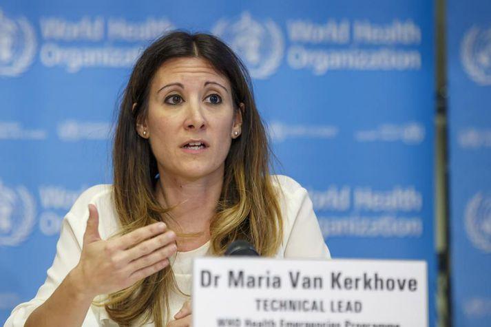 Maria van Kerkhove, sérfræðingur WHO sem hefur leitt viðbrögðin við kórónuveiruheimsfaraldrinum.
