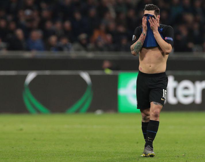 Vonbrigði hjá Inter í kvöld.